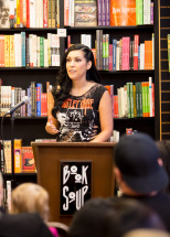 At my Book Soup reading.